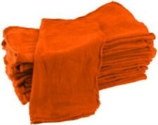 25 PACK WHOLESALE DEAL ORANGE INDUSTRIAL SHOP RAGS TOWELS FREE SHIPPING