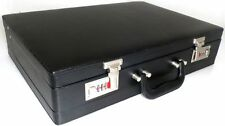 Quality Faux Leather Briefcase Business Executive Work Attache Case Bag Black