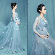 Maternity Women Pregnant Gown Photography Photo Shoot Fancy Lace Full Dresses