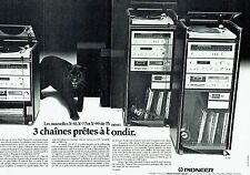 PUBLICITE ADVERTISING 027  1979  Pioneer (2p) chaine hi-fi X- 55 77 99