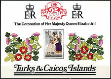 Turks & Caicos Is. 1978 SG#MS498 25th Anniv Coronation MNH M/S #D36820