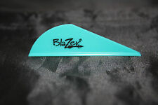 100 Pack Bohning Blazer Vane Arrow Fletching Teal Vanes