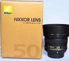 Nikon AF-S Nikkor 50mm f1.8G Fast Prime Lens. Boxed & MINT - NEW Condition.