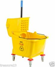 36 Quart Commercial Wet Mop Bucket & Wringer Combo Yellow Janitorial
