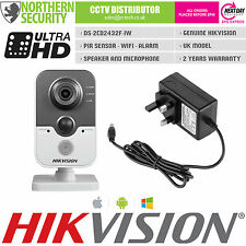 HIKVISION 2.8 mm ds-2cd2432f-iw 3MP 1080P WIRELESS WIFI SENSORE PIR MICROFONO TELECAMERA IP