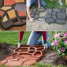 New Garden Tools Mold for Concrete DIY Stone Plastic Mold Pathways for Garden