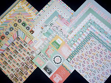 12X12 Scrapbook Paper Cardstock Candy Retro Girl Vintage Teen College 24 Lot