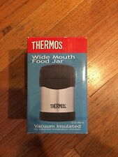 New(NIB) 10oz Thermos Food Jar Stainless Steel Vacuum Insulated Extra Wide Mouth