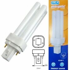 PL 10W Biax-D G24d-1 Cap Cool White Compact Fluorescent Lamp PLC PL-C Low Energy
