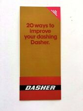 1980 VW Volkswagen Dasher Original Factory Car Accessories Brochure