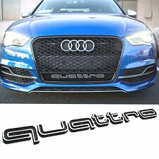 QUATTRO GRILL BADGE AUDI LATEST 2017 a1 a3 a4 a5 s3 s4 rs rs4 rs5 rs6 sline q3 b