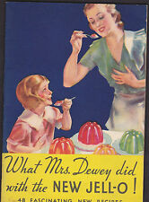 """1933 New Jello """"What Mrs. Dewey did with New Jello"""" 43 Recipes booklet"""