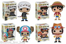 Set of 4: Funko POP! Anime One Piece - Trafalgar, Chopper, Luffy, Portgas