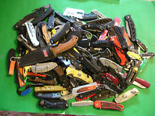 NTSA LOT OF 125+  MIXED BRANDS AND TYPES OF  POCKET KNIVES 19+ POUNDS