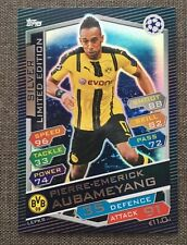 2016 2017 MATCH ATTAX ATTACK CHAMPIONS LEAGUE LIMITED EDITION SILVER AUBAMEYANG