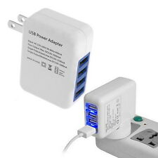 2.1A 4 Ports USB Home Travel Wall Charger US Plug AC Power Adapter CA FL
