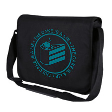 The Cake is a Lie | Portal | Geek | Gamer | Nerd | Umhängetasche | Messenger Bag