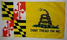 Don't Tread On Me Maryland Gadsden Flag 3' x 5' Gun Right USA Freedom Banner