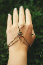 Bronze jewellery Hand harness, Ring Bracelet, hand chain bracelet