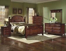 Antique Design Western King Size Bed Bedroom Furniture 1pc Traditional Look
