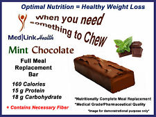 MINT CHOCOLATE BAR Weight Loss Meal Replace   6 Boxes   SIMILAR TO Optifast® 800