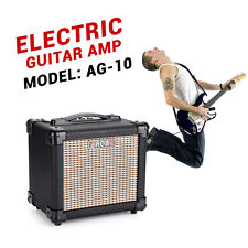 AROMA 10W GUITAR PRACTICE AMP Amplifier Sound Speaker Box 5 Inches 8O MEGA Black