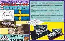 ANEXO DECAL 1/43 LANCIA DELTA S4 K.GRUNDEL 1000 LAKES 1986 6th (04)
