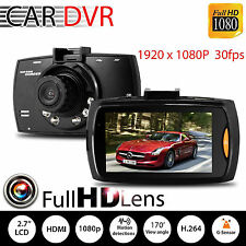 "1080P 2.7"" LCD Car DVR Dash Camera Cam G-sensor IR Night Vision Pro New FS"