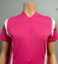 Pearl Izumi Cycling Jersey Pink White Trim Short Sleeve Woman's Sz M