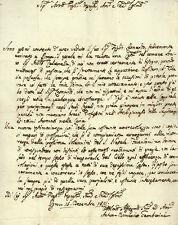 Lettera Autografo Cardinale Anton Domenico Gamberini Assistenza Giurisprudenza