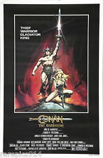 Conan The Barbarian  Schwarzenegger Original Movie Poster Rolled No Folds 1982