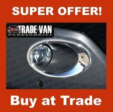 FORD TRANSIT CUSTOM FRONT FOG LAMP SURROUNDS LIGHT COVERS BUMPER STAINLESS STEEL