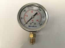 Hydraulic Pressure Gauge 63mm Bottom Entry 0-3000 PSI 200 Bar Gauges GB63200/04