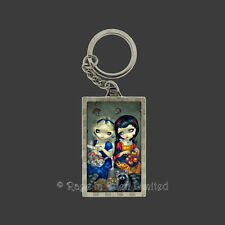 *ALICE AND SNOW WHITE* Strangeling Art 3D Keyring By Jasmine Becket-Griffith