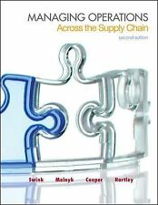 Managing Operations Across the Supply Chain by Steven Melnyk, M. Bixby...