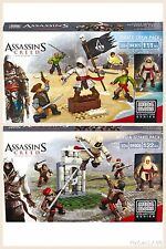 Assassins Creed Mega Bloks Borgia Guard & Pirate Crew Packs Lot of 2 (233 Pcs)