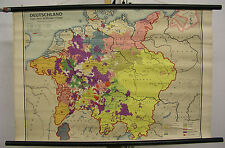 Schulwandkarte Wandkarte Deutschland nach dem 30jährigen Krieg Schulmann 90x59cm