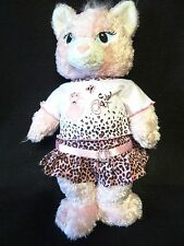Build A Bear BABW Pink COOL CAT in Leopard Print OUTFIT Plush Stuffed Animal
