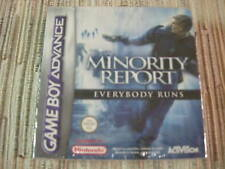 GAMEBOY ADVANCE/NINTENDO DS MINORITY REPORT EVERYBODY RUNS PAL ESPAÑA NUEVO