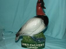 1979 North American Canvasback Duck #3 in Series Decanter Lord Calvert Canadian