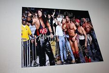 NWO MEMBERS KEVIN NASH, SCOTT HALL, XPAC SIGNED 8X10 PHOTO W/HOGAN WWE/WWF/WCW