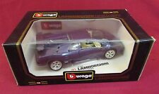 1990 Burago Diamonds Lamborghini Diaglo 1:18 Scale Die Cast Model Car NIB