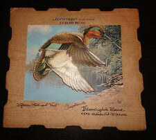 VTG Johnson Outboards Advert Sign Green-winged Teal Bloomingdale Marine Ontario