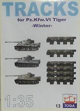 """Bewegliche Einzelgliederkette Tiger I """"Winter"""", 1:35, TOGA, Plastik, Neuware!"""
