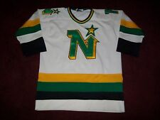 VINTAGE MINNESOTA NORTH STARS HOCKEY JERSEY BY PEDERSONS SIZE 44 ALL SEWN ACCURA