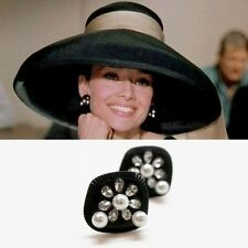 Audrey Hepburn Breakfast at Tiffany's Costume Earrings *Free Shipping*