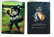 Wolf Chibi Token FOIL | NM | altered Art Promo - Tokens for MTG | Magic MTG