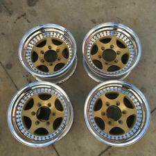 "Epsilon wheels 15x8 2-piece 6-lug 6 x 5.5"" Gold Polished Aluminum"