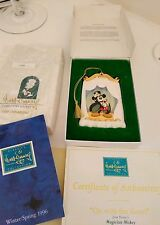 1997 Mickey Mouse collectors society Porcelain Christmas Ornament maginician vtg