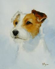 Commission an Original custom Oil painting portrait of your pet dog - by j payne
